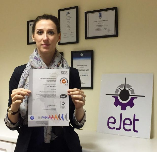 Vicky with ISO certificate