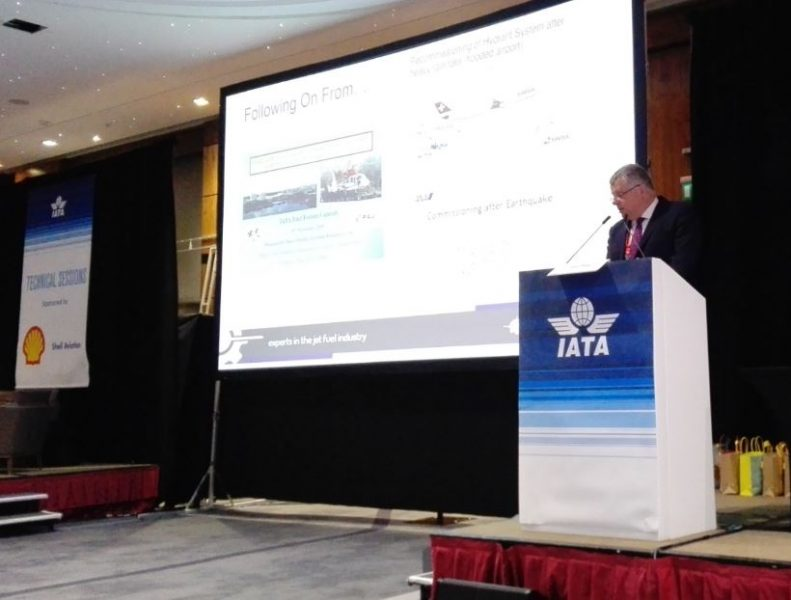 John presenting at IATA Fuel Forum London